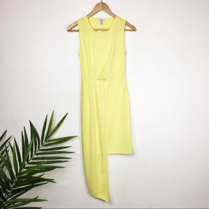 NWT BAR III Mystical Flowers dress yellow (0407)